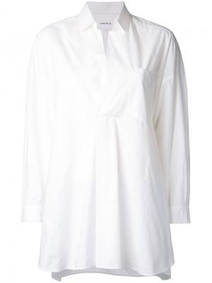 Рубашка с передним карманом Enföld. Цвет: белый