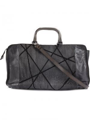 Текстурированная сумка на плечо Numero 10. Цвет: чёрный