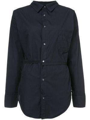 Striped belted shirt NSF. Цвет: синий