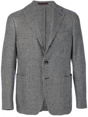 Пиджак с принтом в ломаную клетку The Gigi. Цвет: чёрный