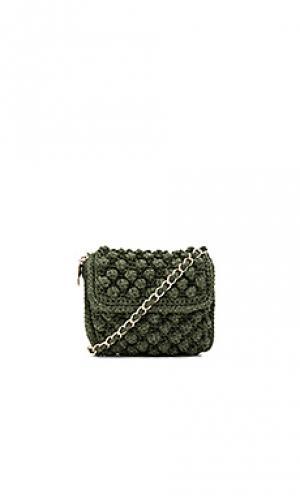 Текстурированная сумка через плечо M Missoni. Цвет: оливковый
