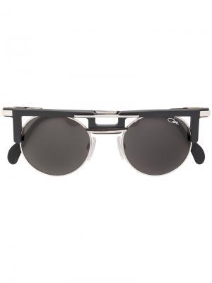 Солнцезащитные очки с двойной планкой Cazal. Цвет: чёрный