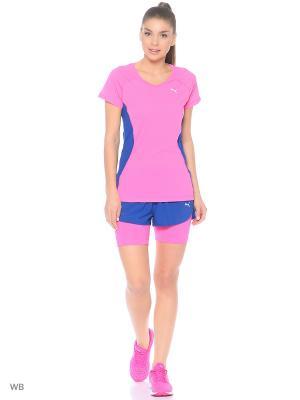 Футболка Core-Run S Tee W Puma. Цвет: розовый