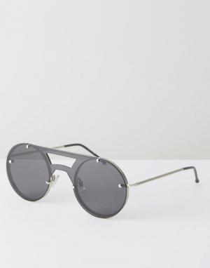 Spitfire Черные солнцезащитные очки-авиаторы. Цвет: черный