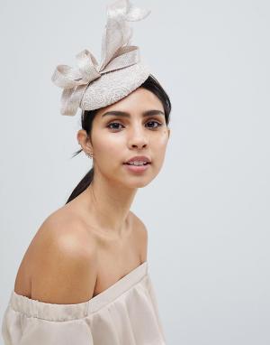 Elegance Вуалетка с кружевом. Цвет: золотой