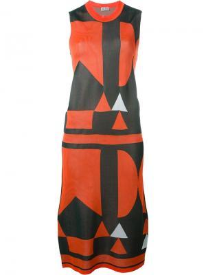 Платье с узором Arthur Arbesser. Цвет: жёлтый и оранжевый