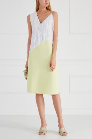 Комбинированное платье Chapurin. Цвет: желтый