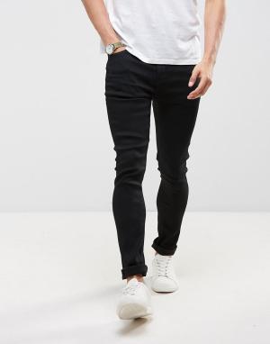LDN DNM Черные джинсы с напылением. Цвет: черный