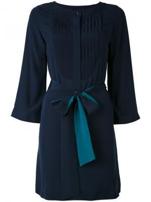 Платье со складками Vanessa Seward. Цвет: синий