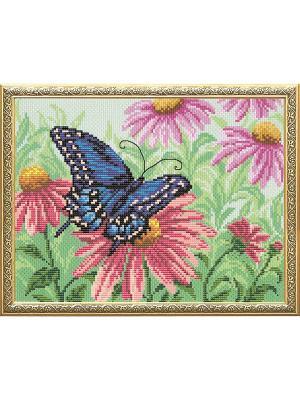 Набор для вышивания Бабочка Матренин Посад. Цвет: зеленый, розовый, синий