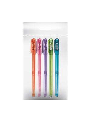 Набор из 5-и ручек шариковых slimwrite.creative 0.5 мм синяя (5 цветов корпуса) Bruno Visconti. Цвет: прозрачный