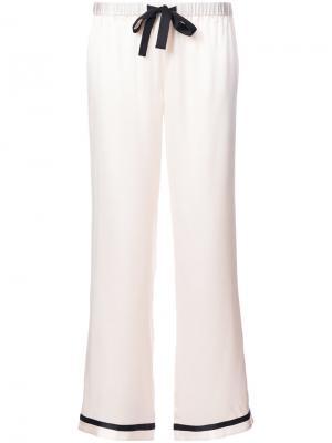 Пижамные брюки с контрастной отделкой Morgan Lane. Цвет: розовый и фиолетовый