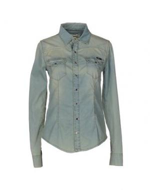 Джинсовая рубашка G.SEL. Цвет: синий