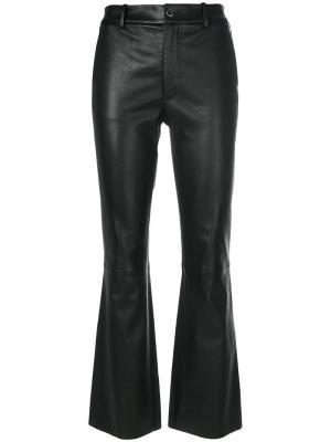Укороченные брюки слим Helmut Lang. Цвет: чёрный