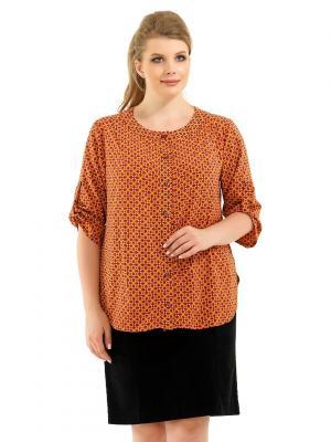 Блузка Pretty Woman. Цвет: светло-оранжевый, оранжевый