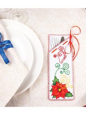 Набор для шитья и вышивания Цветок пуансетия Матренин Посад. Цвет: красный