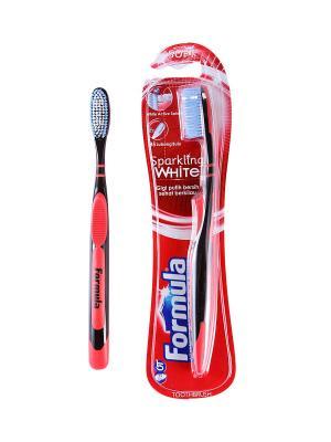 Зубная щетка Formula с переплетеным волокном SPARKLING WHITE FORMULA.. Цвет: красный