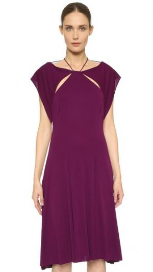 Платье из джерси Zac Posen. Цвет: африканский фиолетовый