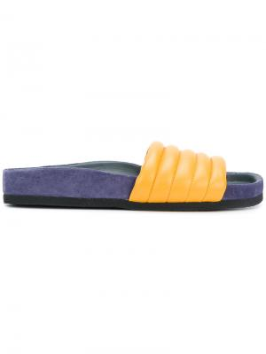 Шлепанцы Hellea Isabel Marant. Цвет: жёлтый и оранжевый