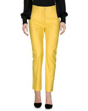 Повседневные брюки CÉLINE. Цвет: желтый