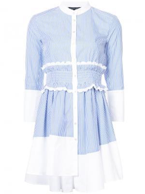Платье-рубашка в тонкую полоску Marissa Webb. Цвет: синий
