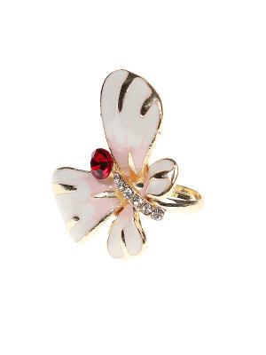 Кольцо Gusachi. Цвет: белый, красный, розовый