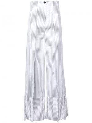 Широкие брюки с полоску Tome. Цвет: чёрный