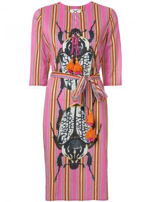 Платье Julia Figue. Цвет: розовый и фиолетовый