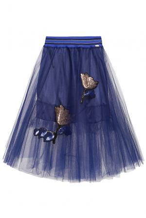 Юбка с пайетками 186269 Cristina Effe. Цвет: синий