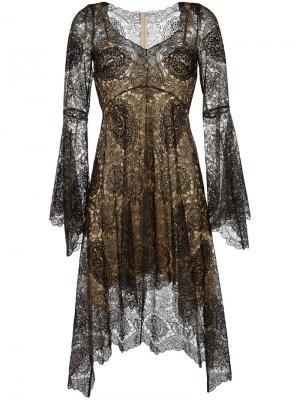 Кружевное платье Plein Sud. Цвет: чёрный