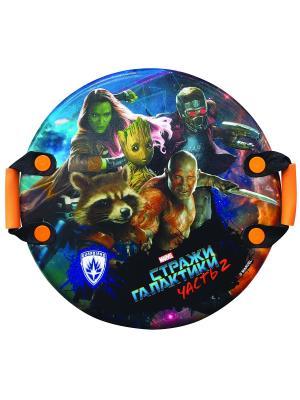 Ледянка Marvel Стражи галактики, 54см,круглая с плотн.ручками 1Toy. Цвет: синий, зеленый