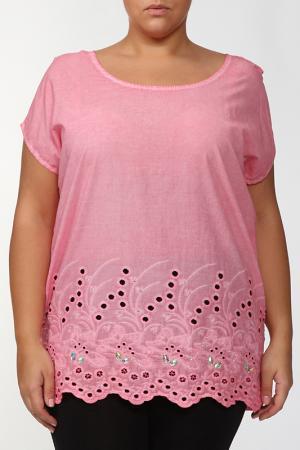 Блузка LA VELINA. Цвет: коралловый