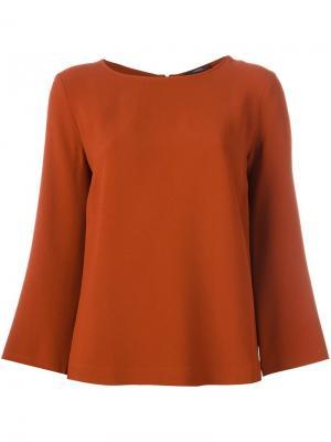 Блузка с расклешенными рукавами Odeeh. Цвет: жёлтый и оранжевый