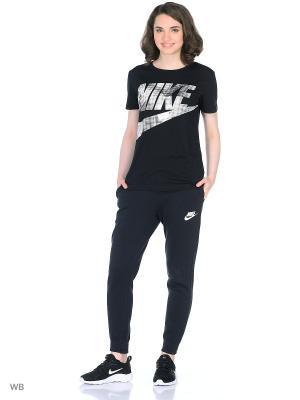 Футболка Nike. Цвет: черный, серый