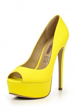 Туфли Buffalo London. Цвет: желтый
