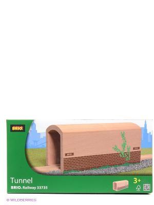 Деревянный туннель с рельсами BRIO. Цвет: прозрачный