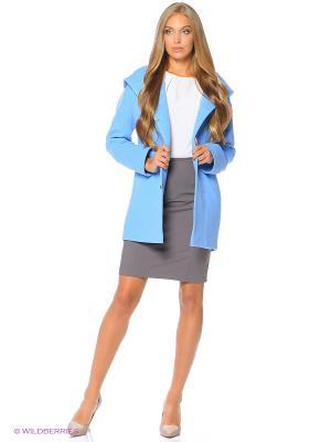 Пальто Anora. Цвет: голубой