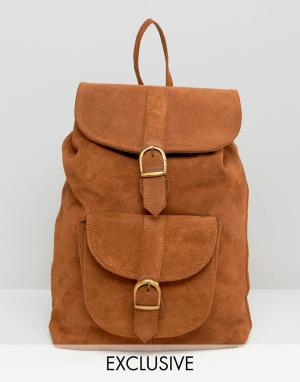Reclaimed Vintage Замшевый рюкзак. Цвет: рыжий
