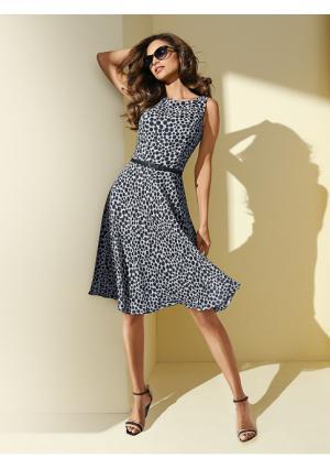 Платье PATRIZIA DINI by Heine. Цвет: коралловый, серо-коричневый, темно-синий