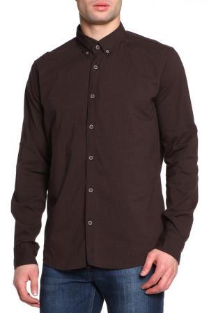 Рубашка Al Franco. Цвет: коричневый