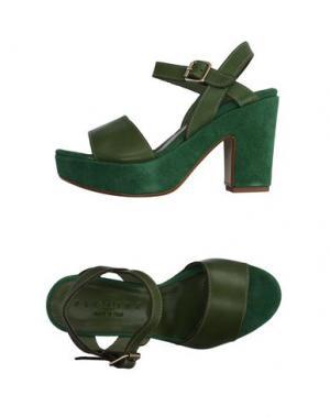 Сандалии FIORINA. Цвет: зеленый