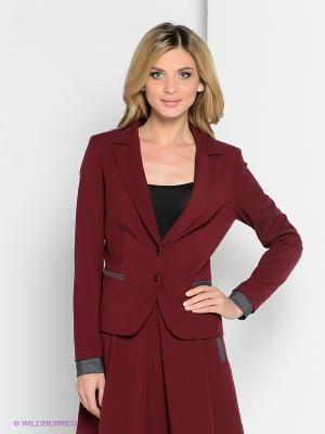 Пиджак YUVITA. Цвет: темно-красный