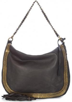 Кожаная сумка с длинной ручкой и плечевым ремнем Tyoulip Sisters. Цвет: коричневый