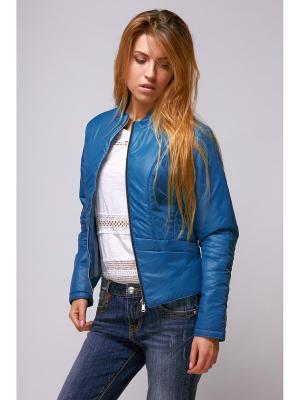 Куртка женская Nikolom. Цвет: бирюзовый