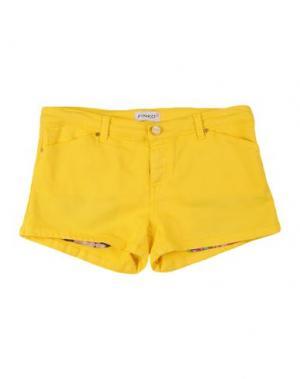Джинсовые шорты PINKO UP. Цвет: желтый