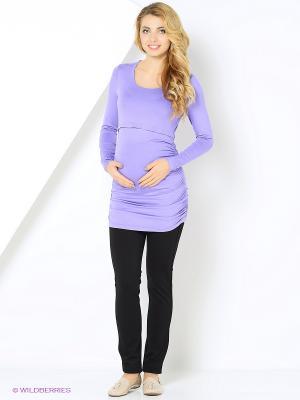 Блуза для беременных и кормления Nuova Vita. Цвет: лиловый