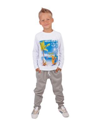 Лонгслив, брюки, коллекция Тропики Апрель. Цвет: белый, бежевый