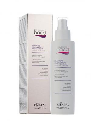 Baco Несмываемый спрей-блеск для светлых, седых и золотистых волос Blonde Elevation Spray 150мл. Kaaral. Цвет: белый
