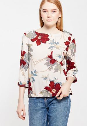 Блуза Marks & Spencer. Цвет: бежевый