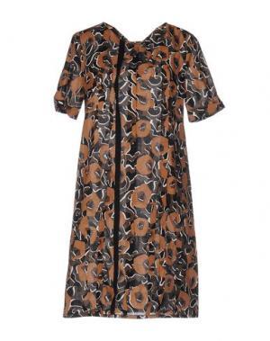 Короткое платье CIVIDINI. Цвет: хаки